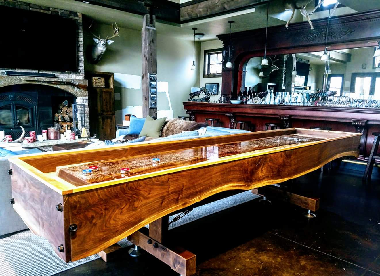 Walnut MonkeyPod Shuffleboard